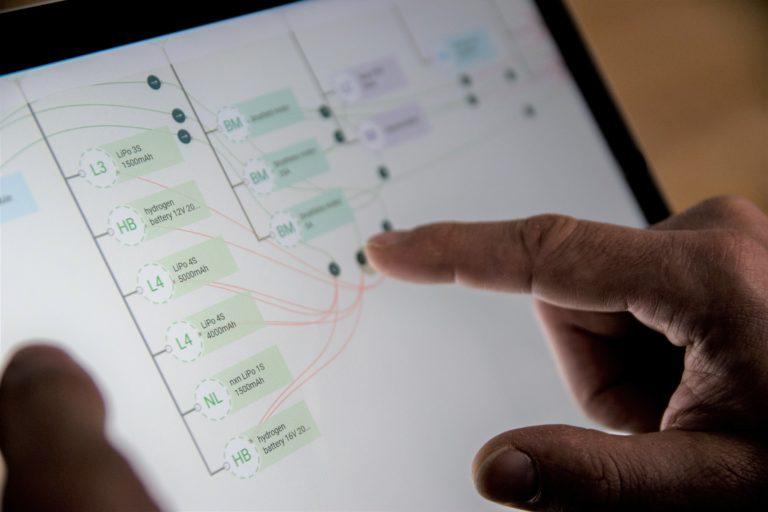Cquenz unterstützt die Eingabe von Touch Befehlen. Damit wird die Bedienung intuitiv.