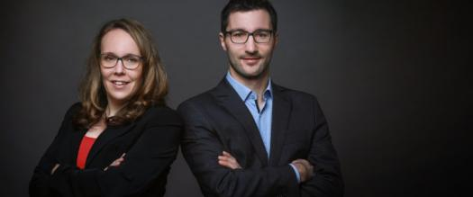 Geschäftsführung der Odego GmbH. Sandra Szech (geb. Eilmus) und Thomas Gumpinger.