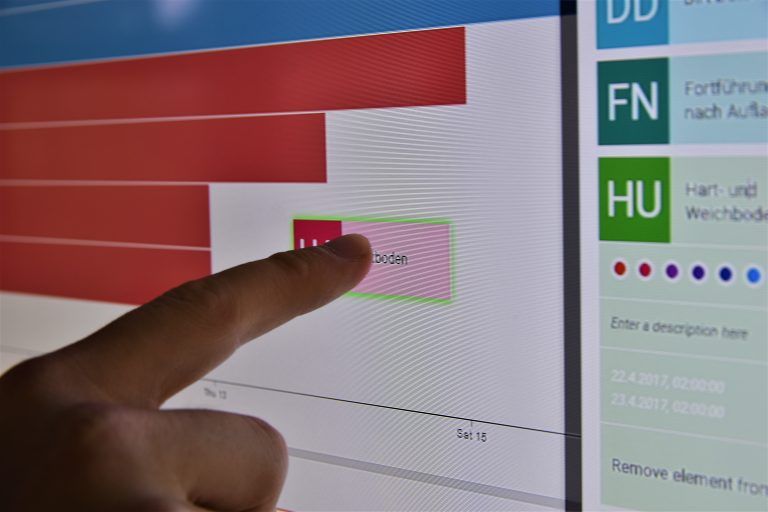 The software can be operated interactively by touch support.